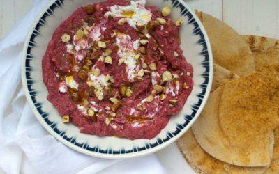 Bietenpuree met yoghurt & za'atar